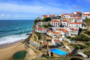 Azenhas do Mar, a little fishermen village on atlantic coast near Cabo da Roca, Portugal - GlobePhotos