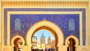 Blue Gate Bab Boujelud in Fes, Morocco - GlobePhotos
