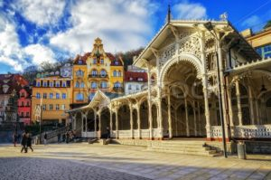 Carlsbad, the famous spa city in western Bohemia, very popular tourist destination in Czech Republic - GlobePhotos