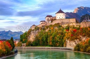 Castle Kufstein on the Inn river, Austria - GlobePhotos