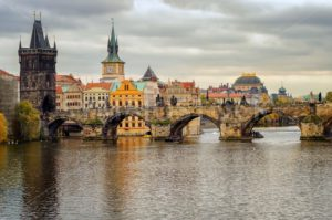 Charles Bridge and the old town of Prague, Czech Republic - GlobePhotos
