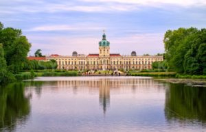 Charlottenburg royal palace in Berlin, Germany, view from lake to English garden - GlobePhotos