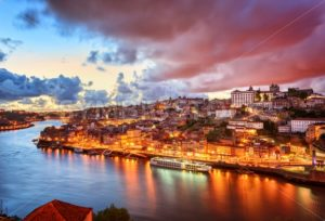 Dramatic sunset in Porto, Portugal - GlobePhotos