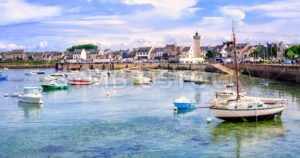 Fisherman's boats in the harbour of Roscoff, Brittany, France - GlobePhotos