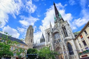 Gothic cathedral of Rouen, Normandy, France - GlobePhotos