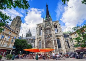 Gothic catholic cathedral Notre Dame of Rouen, Normandy, France - GlobePhotos