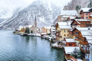Hallstatt by Salzburg, Austria, traditional austrian wooden town, UNESCO world culture heritage site - GlobePhotos