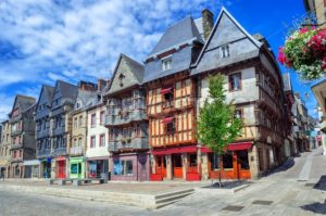Historical city center of Lannion, Brittany, France - GlobePhotos