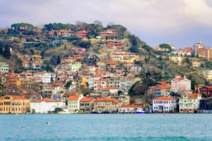 Houses on a hill over Bosphorus, Istanbul, Turkey - GlobePhotos
