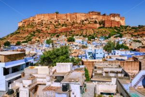 Mehrangarh Fort, blue city of Jodhpur, India - GlobePhotos