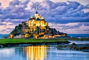 Mont Saint-Michel, France, on sunset - GlobePhotos