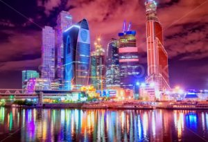 Moscow city at night, Russia - GlobePhotos