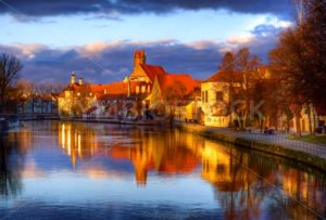 Old gothic town Landshut, the former capital of Bavaria, on Isar river, by Munich, Germany - GlobePhotos