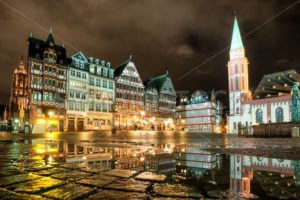 Old town of Frankfurt on Main at night, Germany - GlobePhotos