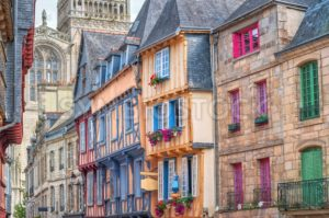 Old town of Quimper, Brittany, France - GlobePhotos