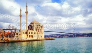 Ortakoy mosque and Bosphorus Bridge, Istanbul, Turkey - GlobePhotos