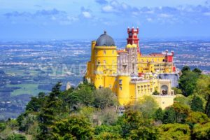 Panoramic view of Pena palace, Sintra, Portugal - GlobePhotos