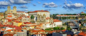 Panoramic view over the old town of Porto, Portugal - GlobePhotos