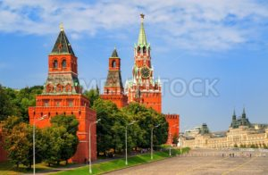 Red square and Kremlin towers, Moscow, Russia - GlobePhotos