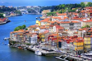 Ribeira, the old town of Porto, and the river Douro, Portugal - GlobePhotos