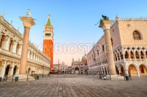 San Marco square and Doges Palace, Venice, Italy - GlobePhotos