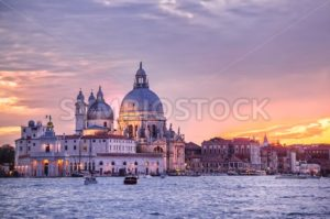 Santa Maria della Salute church on sunset, Venice, Italy - GlobePhotos