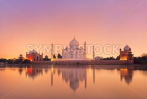 Taj Mahal in Agra, India on sunset - GlobePhotos