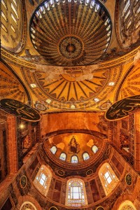 The Dome of Hagia Sophia, Istanbul, Turkey - GlobePhotos - royalty free stock images