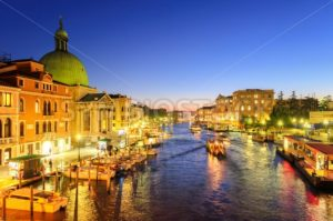 The Grand Canal, Venice, Italy, on the late evening - GlobePhotos
