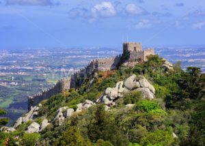 The Moorish castle, Sintra, Portugal - GlobePhotos