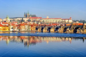 The Prague Castle and Charles Bridge, Prague, Czech Republic - GlobePhotos