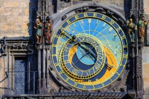 The astronomic clock Horologe in Prague, Czech Republic - GlobePhotos - royalty free stock images