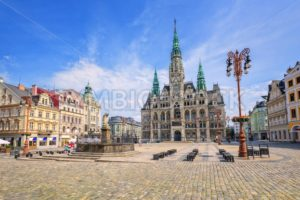 The town hall and the central square in Liberec, Czech Republic - GlobePhotos