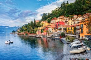 Town of Menaggio on lake Como, Milan, Italy - GlobePhotos