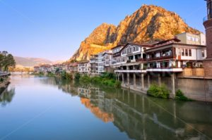 Traditional ottoman half timbered houses in Amasya, Turkey - GlobePhotos