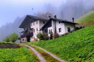 Traditional wooden house in Tyrol, Austria - GlobePhotos