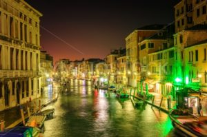 Venice, Italy, at night - GlobePhotos