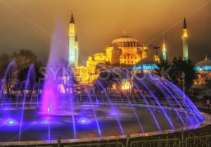 View of Hagia Sophia from Sultanahmet park, Istanbul, Turkey - GlobePhotos - royalty free stock images