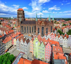 Saint Mary's Cathedral in the old town of Gdansk, Poland - GlobePhotos - royalty free stock images