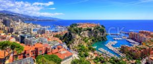 Skyline of Monaco with Prince Palace, old town and port - GlobePhotos - royalty free stock images