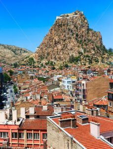 Afyon town and Karahisar castle, Turkey - GlobePhotos - royalty free stock images