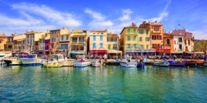 Cassis old town port promenade, Provence, France - GlobePhotos - royalty free stock images