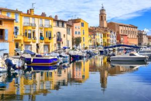Colorful houses on canal of the old town of Martigues, France - GlobePhotos - royalty free stock images