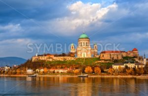 Esztergom Basilica on Danube River, Hungary - GlobePhotos - royalty free stock images