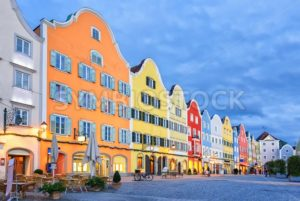 Gothic old town of Scharding, Upper Austria - GlobePhotos - royalty free stock images