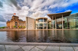 Old and new Bundestag buildings, Berlin, Germany - GlobePhotos - royalty free stock images