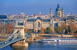 Old town of Budapest on Danube river, Hungary - GlobePhotos - royalty free stock images