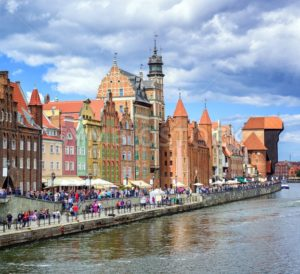 Old town of Gdansk on Motlawa river, Poland - GlobePhotos - royalty free stock images