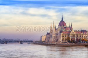 The Parliament building on Danube river, Budapest, Hungary - GlobePhotos - royalty free stock images