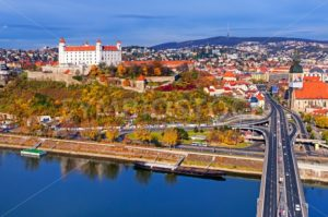 The castle and old town of Bratislava, Slovakia - GlobePhotos - royalty free stock images